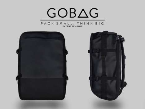 Compressing Carry-On Bags - The GoBag Uses a Built-In Vacuum System to Pack Items Tightly