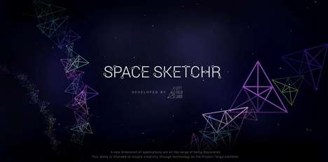 Immersive Art Apps - Left Field Labs' Space Sketchr App is Launched as Part of Project Tango