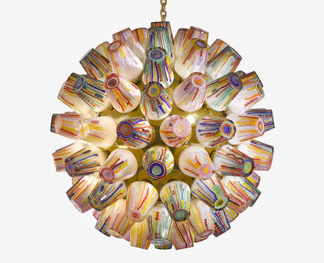 Candy-Mimicking Chandeliers - This Collection of Blown Glass Lamps Resembles Colorful Melted Candies