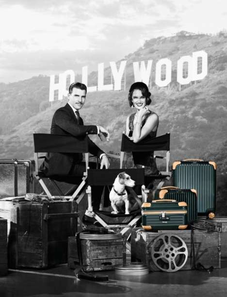 Retro Luggage Ads - The Latest Rimowa Campaign Stars a Glamorous Alessandra Ambrosio