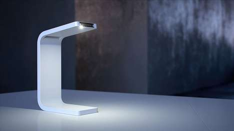 Phone-Powered Lamps - Kwambio's 3D-Printed Desk Lamp is Powered by a Phone Flashlight