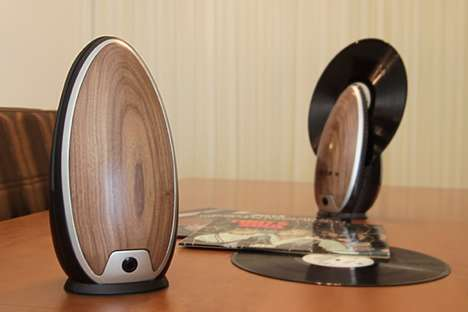 Portable Vinyl Record Players - This Portable Record Player is a Lightweight Retro Music System