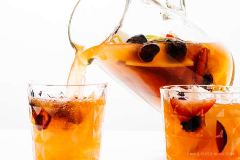 Sparkling Sangria Recipes - Iamafoodblog's Summer Drink is Fruit-Filled and Refreshing