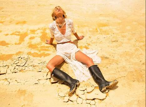Romantic Desert Lookbooks - The Spell and the Gypsy Collective Catalog Stars Emma Stern Nielsen