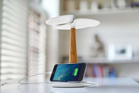 Arborous Device Chargers - This Design-Conscious Solar Charging Station Resembles a Ginkgo Tree