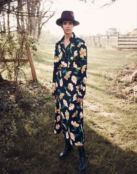 Realistic Rancher Editorials - The Net-a-Porter In Full Bloom Photoshoot is Realistically Pastoral