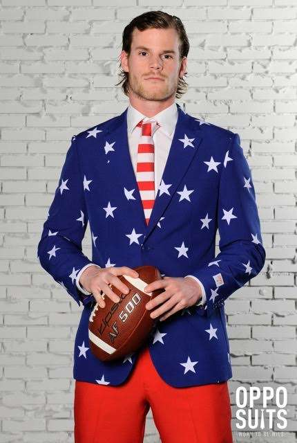 Patterned Patriotic Suits - The OppoSuits Stars and Stripes Model is a Fourth of July Fashion Find