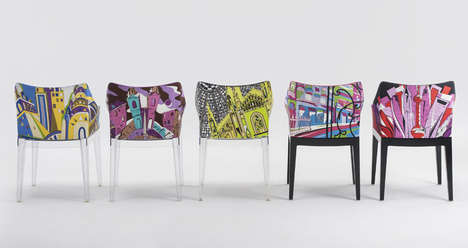 Cityscape-Inspired Armchairs - The Madame Milano Chairs Feature Graphic Images of Vast Architecture