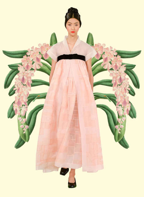 Fashion-Flora Mashups - The Miss Moss Botanical Resort Images Compare Collections with Flowers