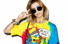 Psychedelic Cartoon Tees - This Tie-Dye T-Shirt Features a Very Groovy Bart Simpson