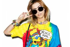 This Tie-Dye T-Shirt Features a Very Groovy Bart Simpson