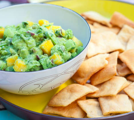 Light Mango Guacamole - This Contemporary Guacamole Recipe Adds Bold Flavor to Lite Eating