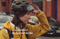 Augmented Reality Bike Helmets - This AR Cycling Helmet Prototype Boasts Blind-Spot Visualization