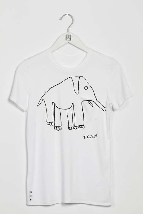 Doodled Animal Apparel - This Charitable Clothing Line Features Elementary Students' Drawings