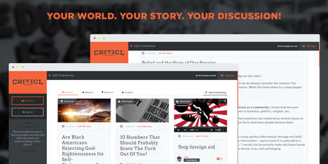 Custom News Creation Tools - The Criticl Platform Lets Users Create Their Own Journalistic Content
