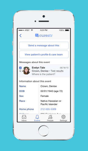 Patient-Tracking Apps - The 'Cureatr' App Helps Physicians Keep Track of Hospital Patients