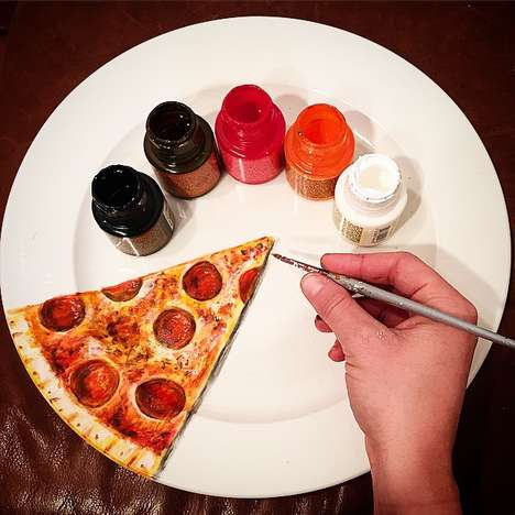 Plate-Based Food Art - Jacqueline Poirier Uses Dinner Plates as a Canvas for Ultra-Realistic Artwork