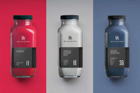 Sophisticated Raw Juice Branding - Belmonte Raw is a New Juice Brand That Boasts Luxurious Packaging