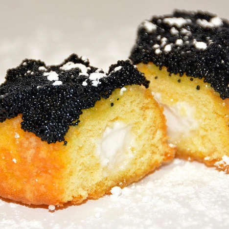 Caviar-Covered Snacks - This Odd Twinkie Combines Pricey Ingredients with a Classic Snack Cake