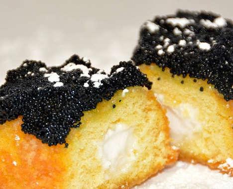 Caviar-Covered Snacks