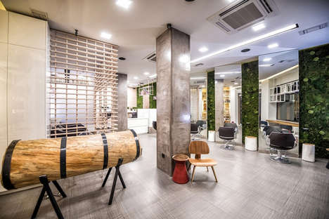 Modern Rainforest Salons - 'Cuts & Color' Features Earthy Tones and High-Tech Salon Products