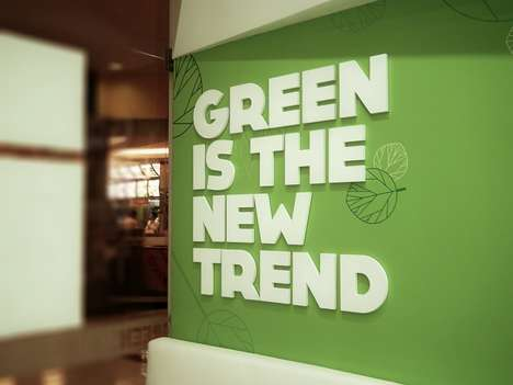 Green-Toned Eateries - Green Station is a Healthy Fast Food Joint Branded with Green Interior Decor