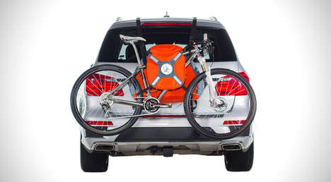 Inflatable Bike Carriers - This Clever Bicycle Carrier Makes It Easier to Attach a Bike to a Car