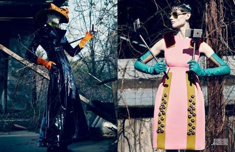 Haute Couture Selfies - The Saskia de Brauw Interview Magazine Editorial is Elegantly Eccentric