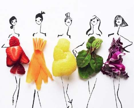 Fruity Fashion Sketches