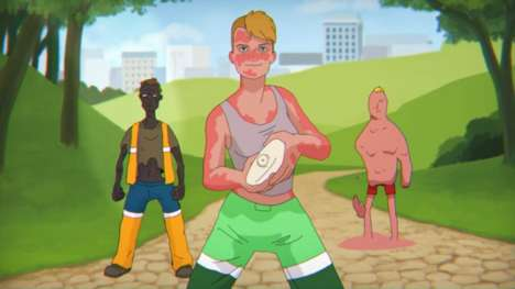 Cartoon Cancer Campaigns - This Cancer Awareness Campaign Advises Protection for Outdoor Workers