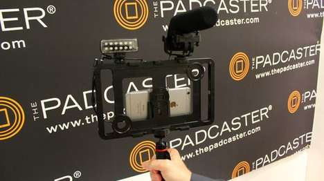 Tablet Videography Frames - The Padcaster Helps iPad Videographers Use Lights, Lens and Tripods