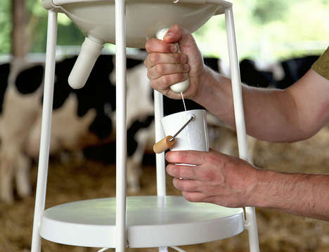 Udder-Mimicking Milk Dispensers - 'Vache à Lait' Seeks to Recreate the Farm-to-Table Experience
