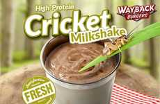 Cricket-Laced Milkshakes - 'Wayback Burgers' Launches an Insect-Infused Milkshake on its Menu