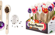 Utensil-Packaged Flower Seeds