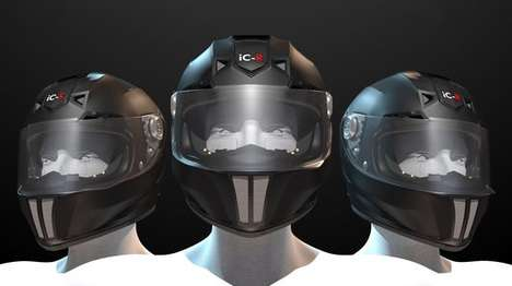 Smart Motorcycle Helmets - The iC-R Features Futuristic Functionality and a Slick Design