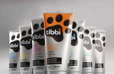 Paw-Printed Pet Shampoos - 'Tibbi' Uses a Paw Print as a Logo for its Dog Shampoos & Soaps