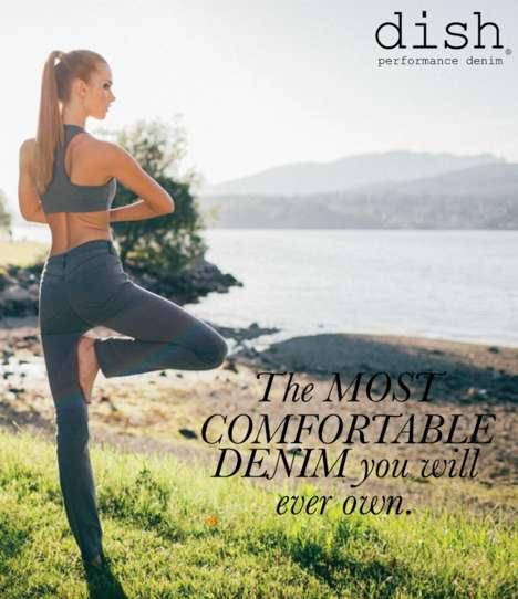 Fashionable Performance Denim - Dish Performance Denim Designs Stylish Jeans for Active Lifestyles