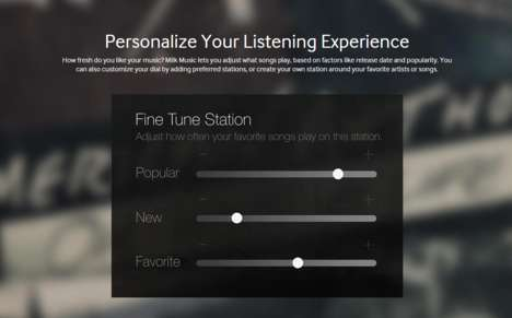 Personalized Music Platforms - Samsung's Music Milk Provides a Custom Listening Experience