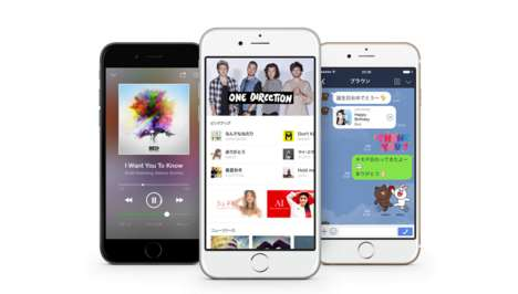 Messenger Music Services - The LINE Music Service Gives Mobile Users Listeners Freedom of Choice