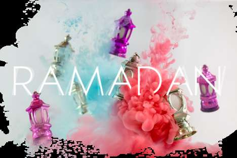 Ramadan-Colored Smoke Art - These Images Showcase Colorful Clouds of Smoke to Celebrate Ramadan
