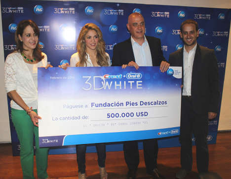 Charitable Celeb Endorsements - The Crest 3D White Shakira Partnership Raises Funds for Kids in need