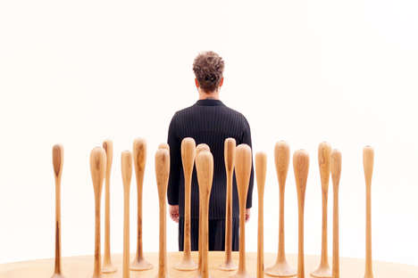 Rain Drop Table Legs - Leo Romano Designs a Collection of Sculptural Furniture Pieces