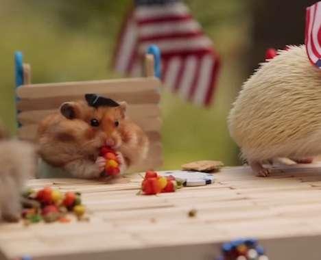 Patriotic Hamster Parties