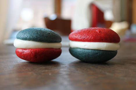 Patriotic Pie Desserts - The Recipe for These July 4th Whoopie Pies is Red Velvet Flavored
