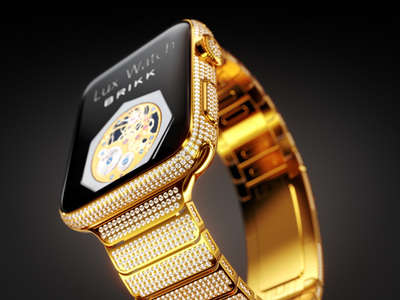 Luxurious Diamond Smartwatches - The Brikk Lux Watch Gives the Apple Watch an Opulent Makeover