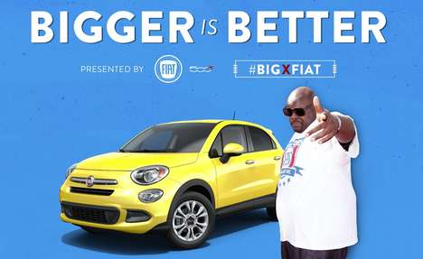 Spacious Car-Promoting Ads - This Fiat 500X Ad Shows 'Big Black' Testing the Spacious Car Interior