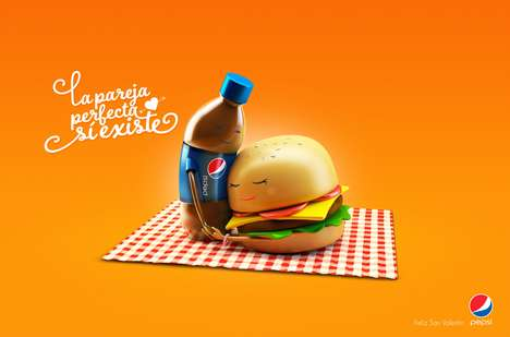 "Amorous Meal Ads - The Latest Pepsi Campaign Shows that ""Perfect Couples Do Exist"""