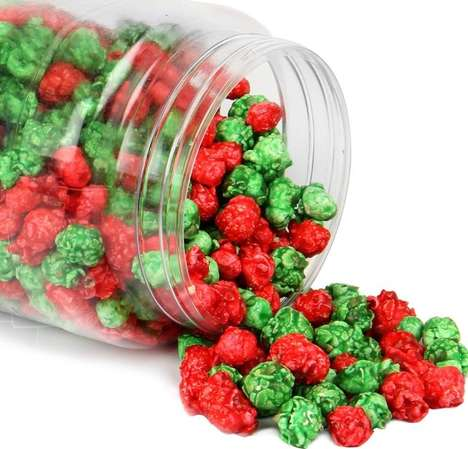 Festive Kernel Snacks - Oh Nuts' Christmas Popcorn Features Red and Green Bites