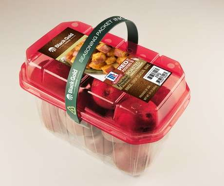 Convenient Potato Carriers - Black Gold Farms' Red Potato Packaging is Easy to Transport