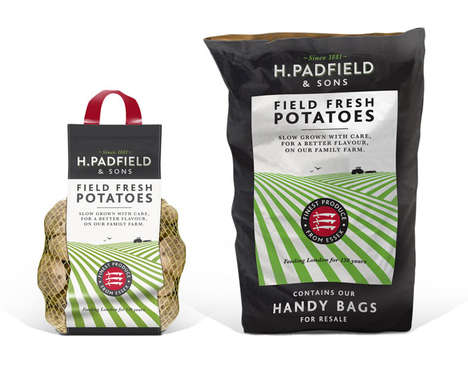 Modernized Potato Packaging - This Field Potato Packaging Was Part of the Rebrand for a Small Brand